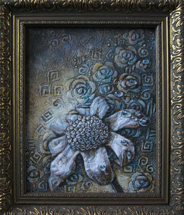 Flowe 20x27 Cm Oil On Canvas Special Texture Painting Oil On Canvas Canvas