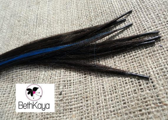 Espresso and Electric Blue Silky Straight I Tip by BethKaya, $22.00
