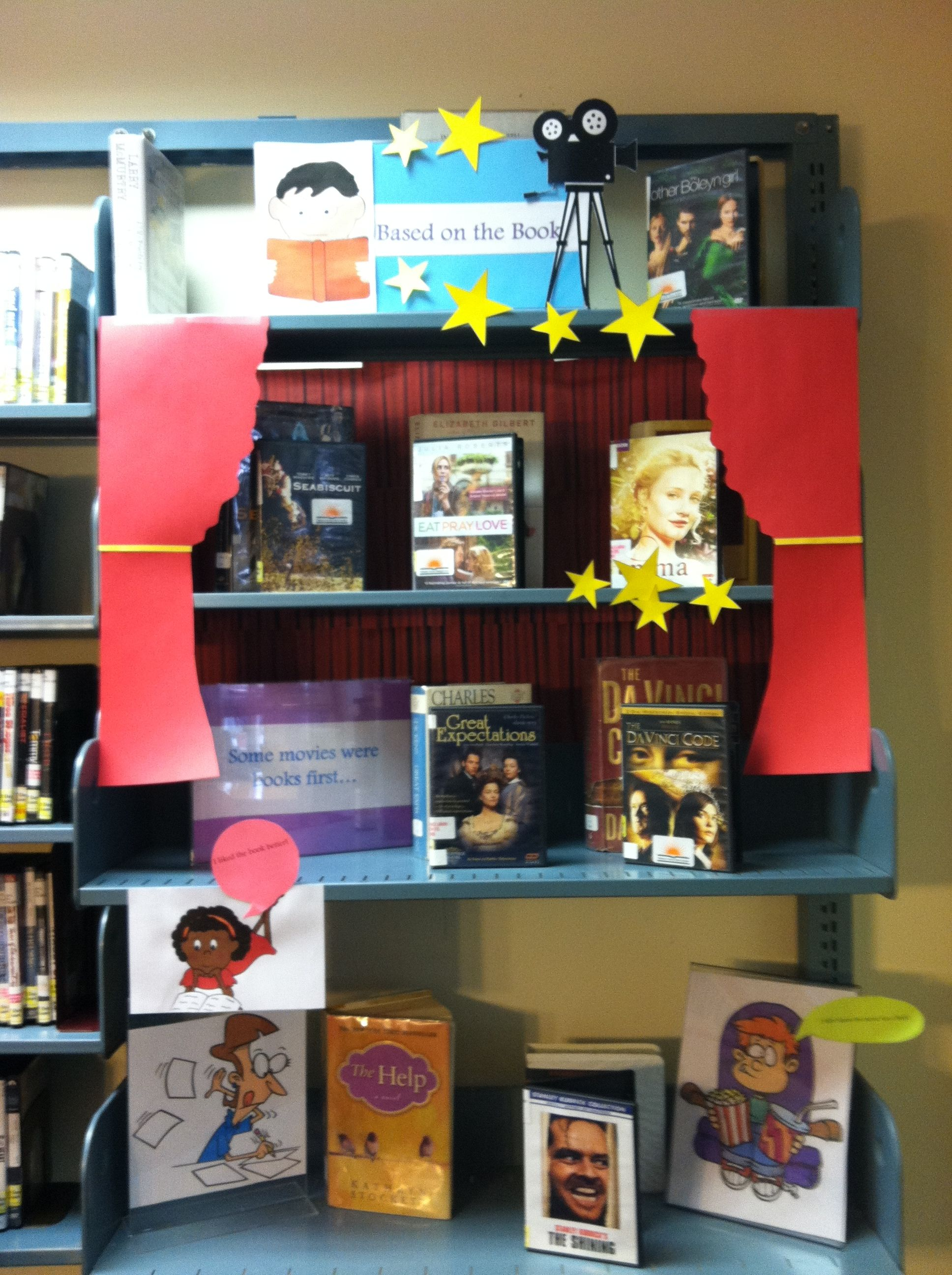 Februarys dvdbook display based on the book is