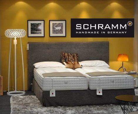 Schramm Boxspring schramm boxspring gala recht hoofdbord 140 cm hoog met bedrok