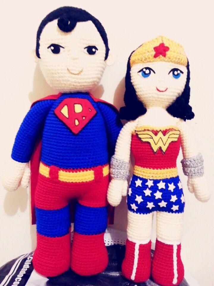 superman wonder woman amigurumi #Superman #wonderwoman ...