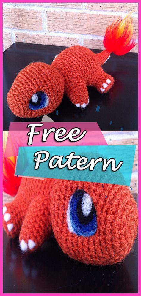 Baby Charmander Free Crochet Pattern Pokmon Amigurumi Crochet
