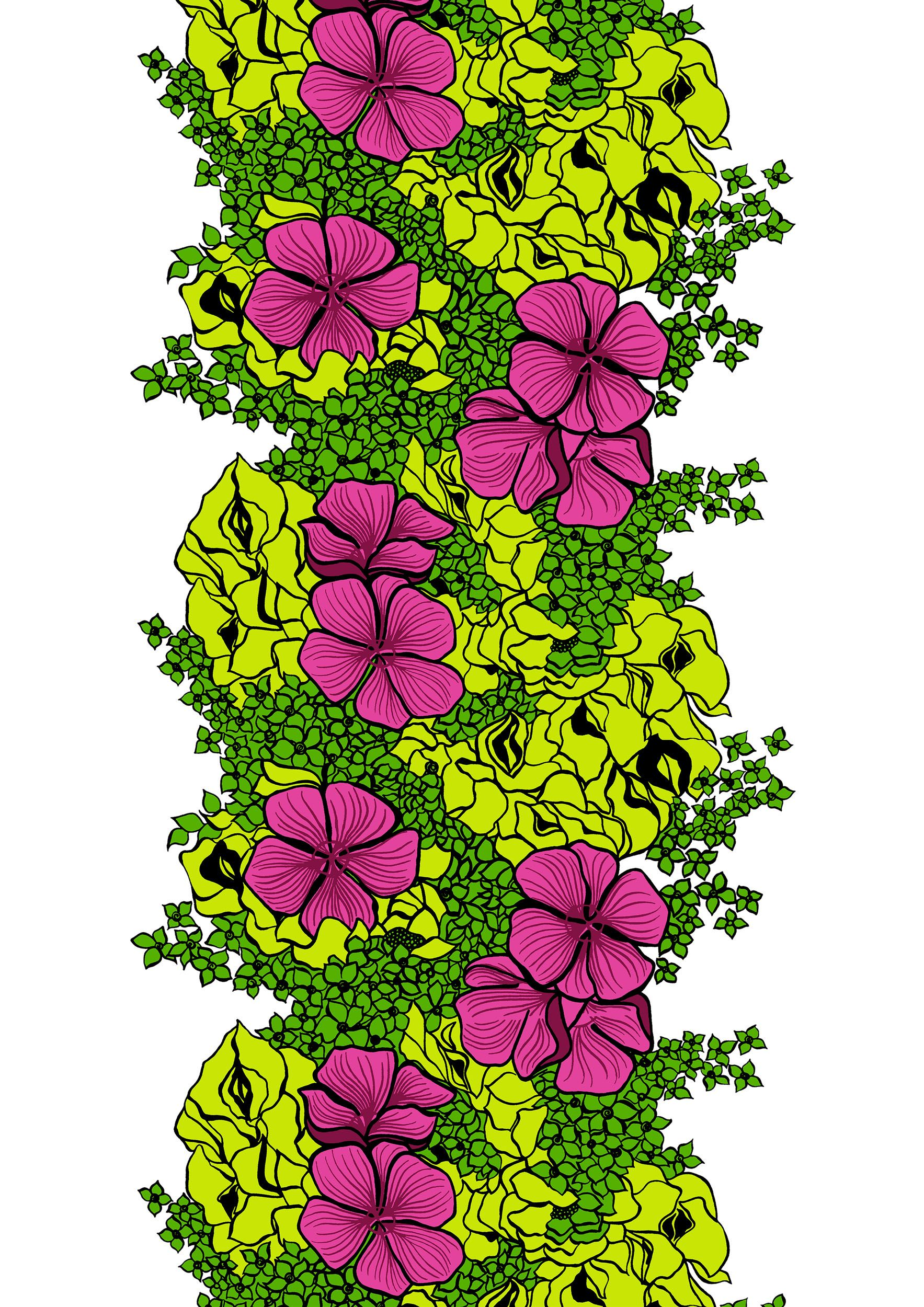 Elle, greenpink by Marjatta Metsovaara
