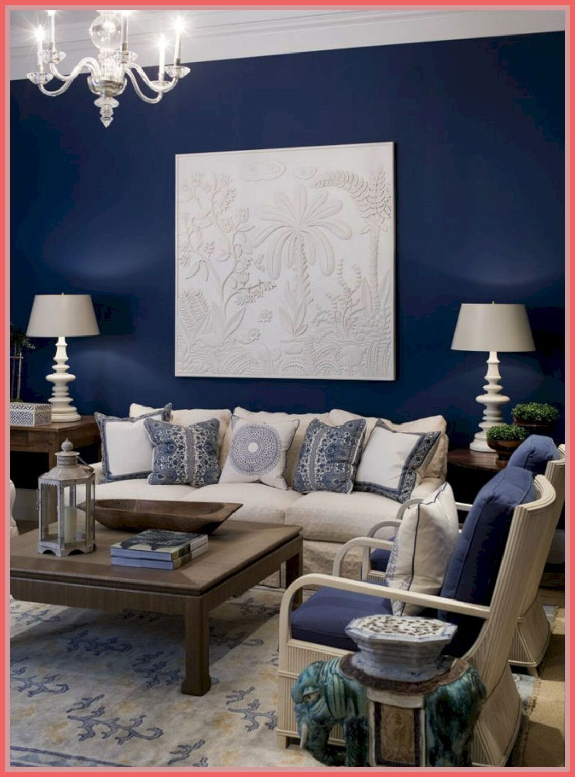 98 reference of interior design living room navy blue in ...