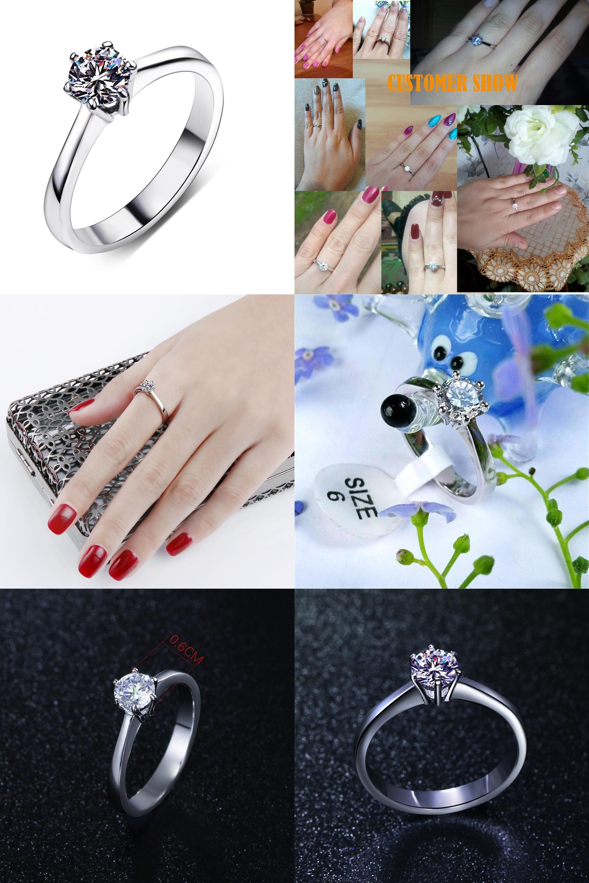 Visit To Buy Nice Wedding Ring For Women Setting With 05ct Cubic
