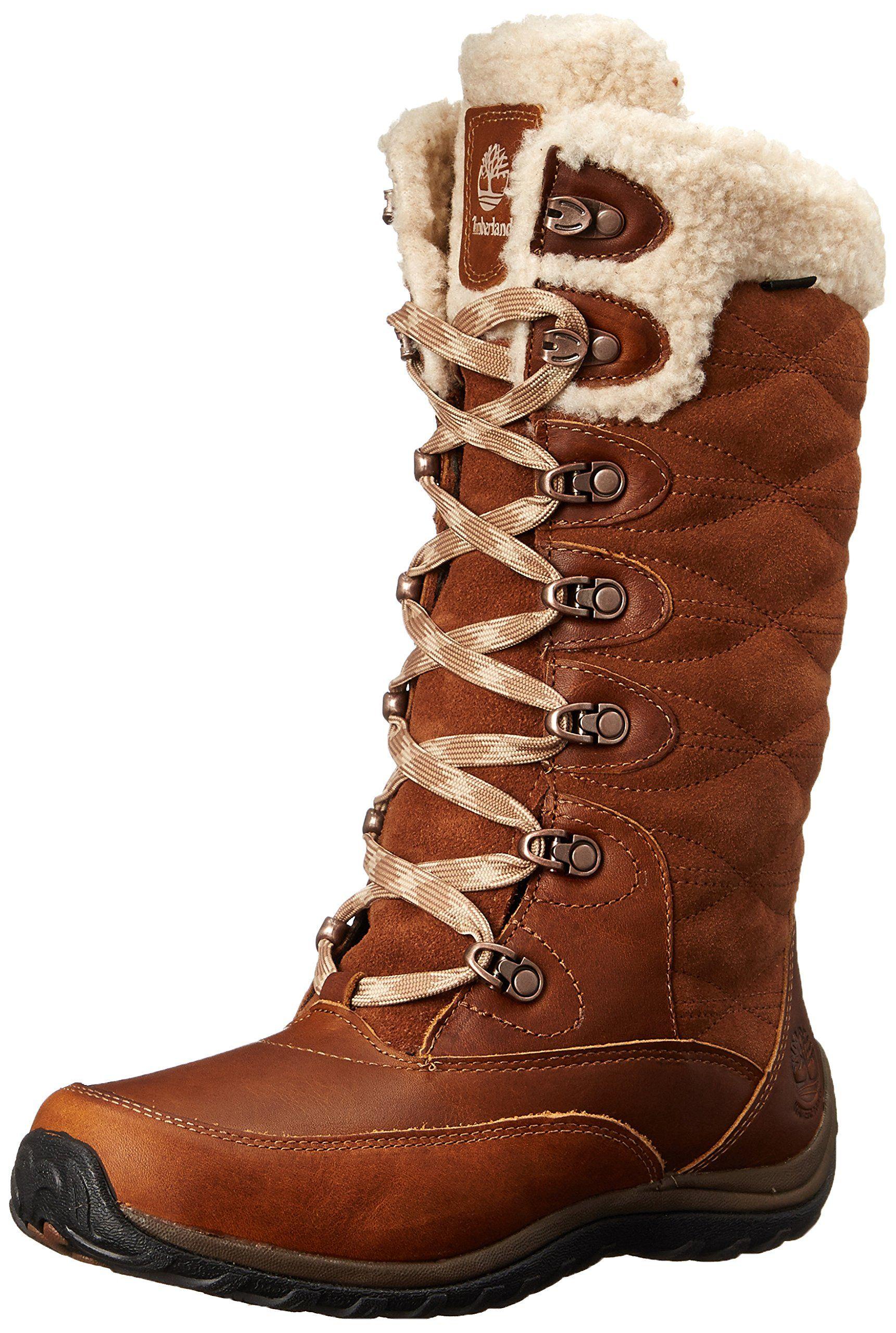 Timberland Womens Willowood WP Insulated Winter Boot Brown 7 W US Womens Combat BootsCalf