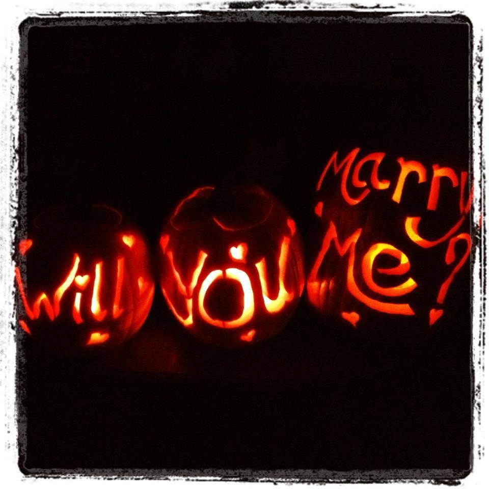 proposal pumpkins carved