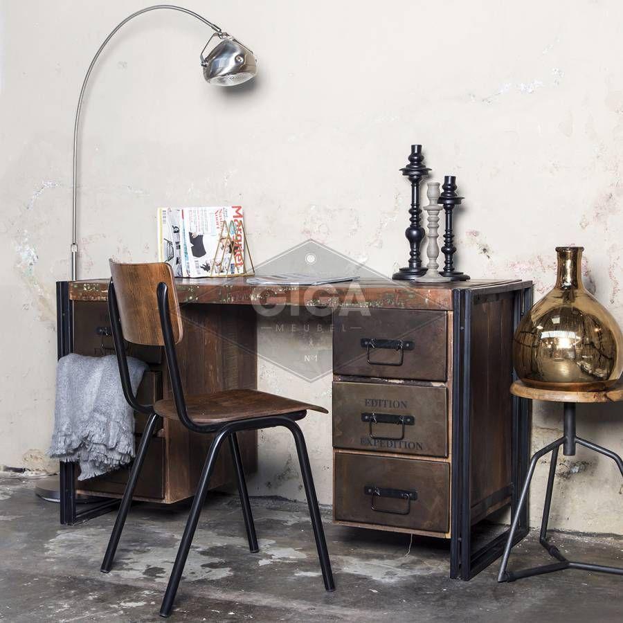 Bureau Vintage Industrieel In 2019 Ideeën Voor Het Huis