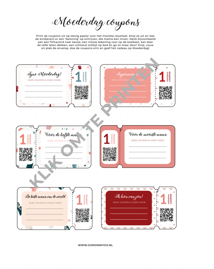 picture relating to Heb Printable Coupons identify Moederdag discount codes - gratis printable Dutch Mama Bloggers
