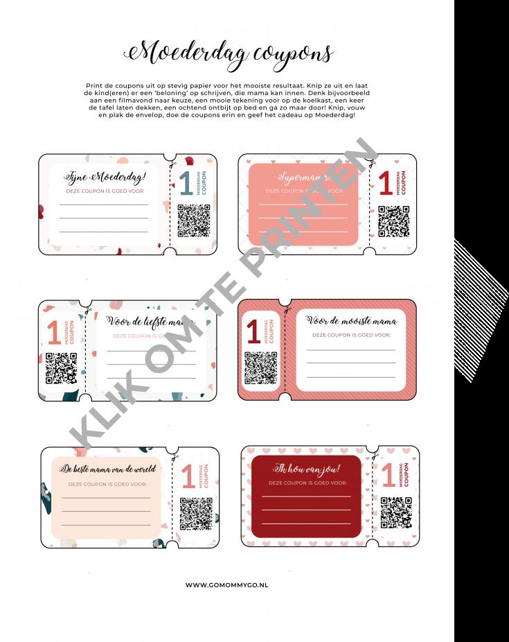 photo regarding Heb Printable Coupons identified as Moederdag coupon codes - gratis printable Dutch Mama Bloggers