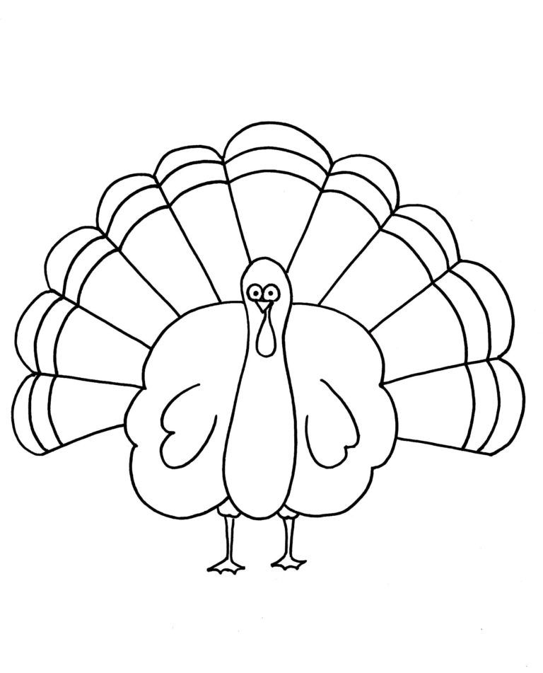 Thanksgiving Coloring Pages Simple on a budget