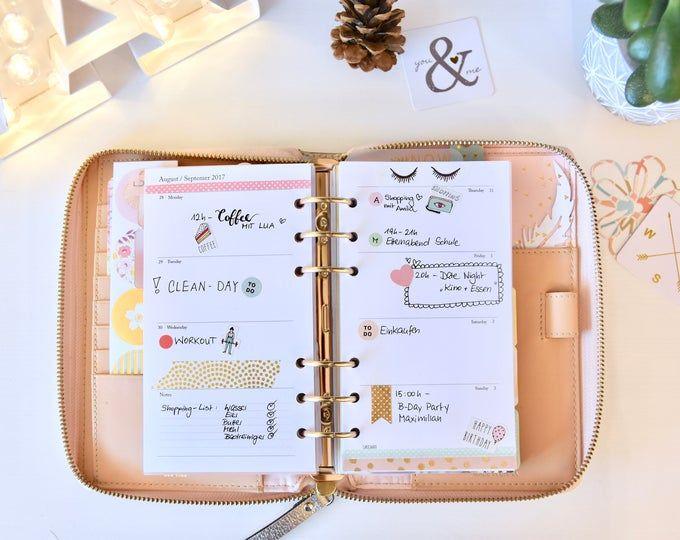 NEW Printable Weekly Planer Einlagen vertikal Kalender | Etsy