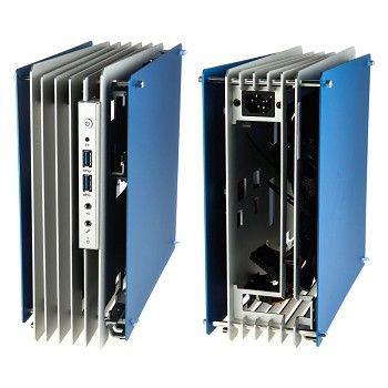 In Win H Frame Mini, Mini ITX Case   Silver / Blue