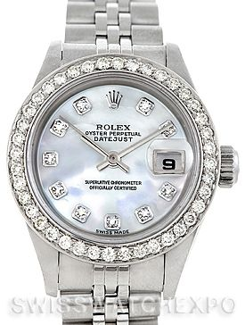Rolex Datejust Ladies Steel 18k White Gold Diamond Watch 79174 Gold Diamond Watches Rolex Rolex Datejust
