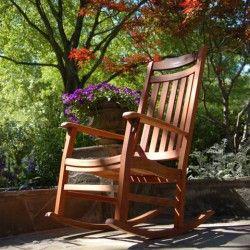 Swell Worlds Finest Brazilian Cherry Outdoor Rocker Natural Oil Machost Co Dining Chair Design Ideas Machostcouk