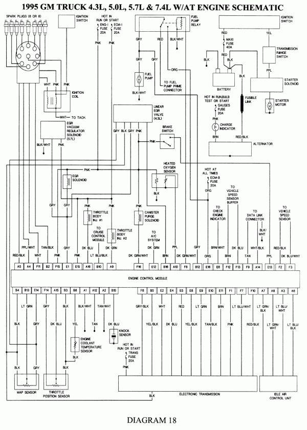 16  96 Chevy 2500 Pickup Truck Engine Diagram Truck