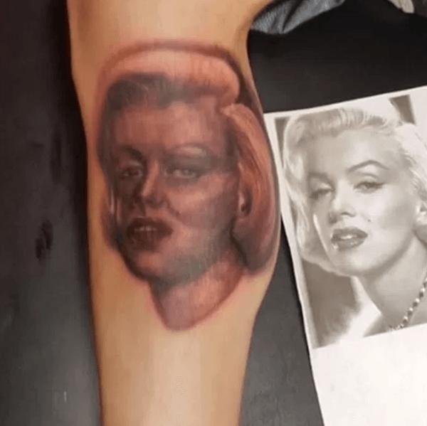 Marilyn Monroe Tattoo Fail Tatuajes feos