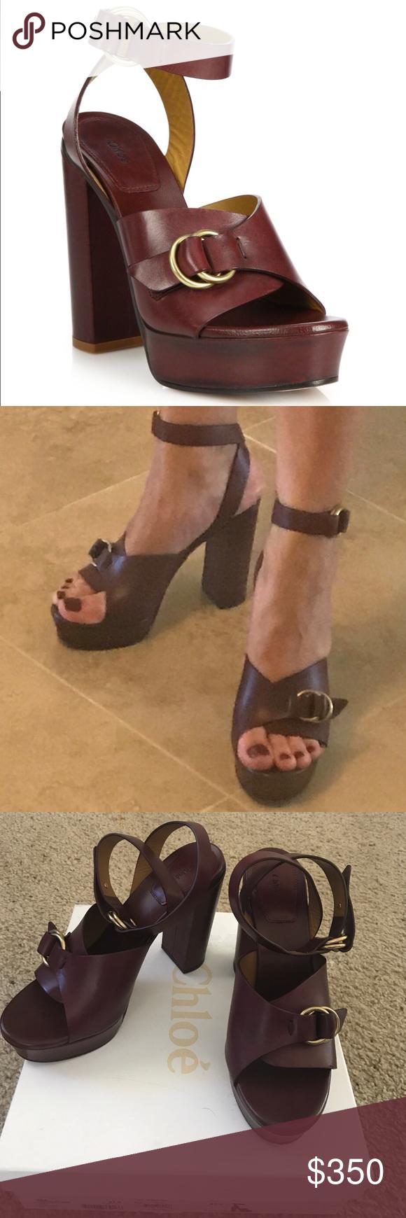 3b852dd3d1b Chloe Kingsley Platform Leather Sandals 👡70 s inspired platforms ...