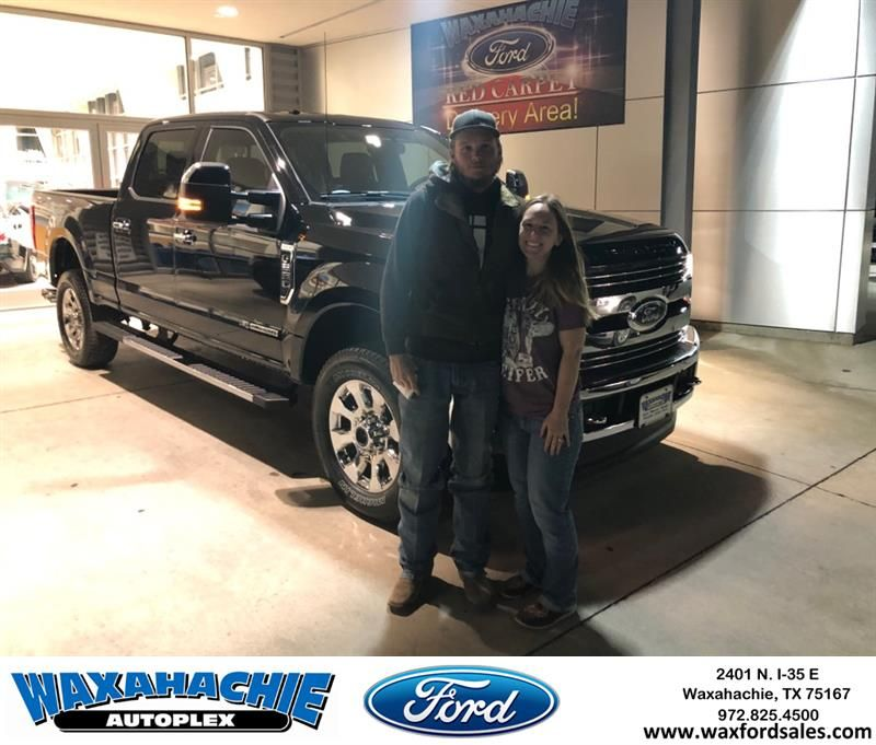 Congratulations Tyler on your Ford Super Duty F250 SRW