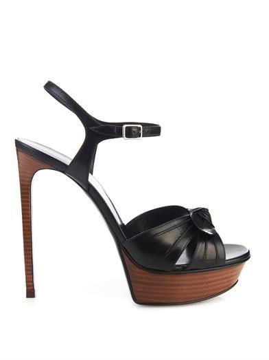 Saint Laurent Bianca bow-knot leather sandals