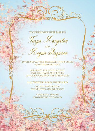 "Claire Pettibone for Wedding Paper Divas ""Earthly Paradise"" invitations"