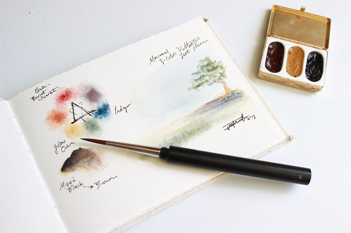 Minimalist Watercolor Set Diy With Vintage Pill Box Or Mint Tin