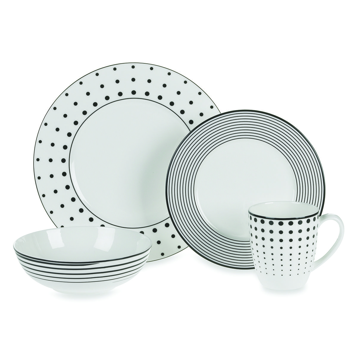Black And White Dots Dashes Dishes From Bed Bath Beyond I Am Completely In Love With These Dishes Antiguidades
