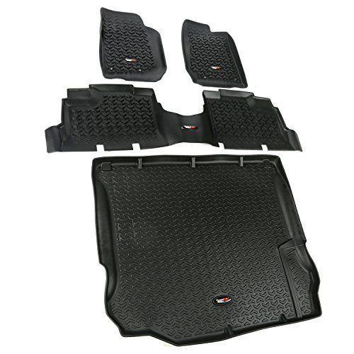 Black Floor Mat For 2011 2012 2013 2017 Jeep Wrangler JK Unlimited Sahara 4  Door #RuggedRidge