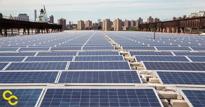 Rooftop Solar At The Navy Yard The Brooklyn Navy Yard Has Installed A Rooftop Solar System To Meet Its Growing Electr Solar New Orleans Homes Best Solar Panels