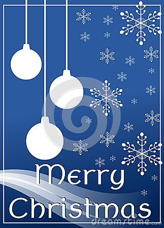 A nice idea for Christmas greeting card, with modern but elegant