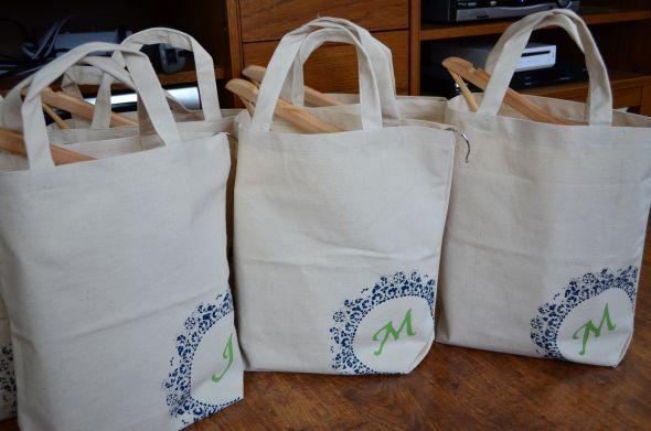 Bridesmaid Gift Bags Wedding Blue Bridesmaids Diy