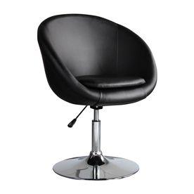 Ceets Barrel Modern Black Faux Leather Accent Chair B20-Black ...