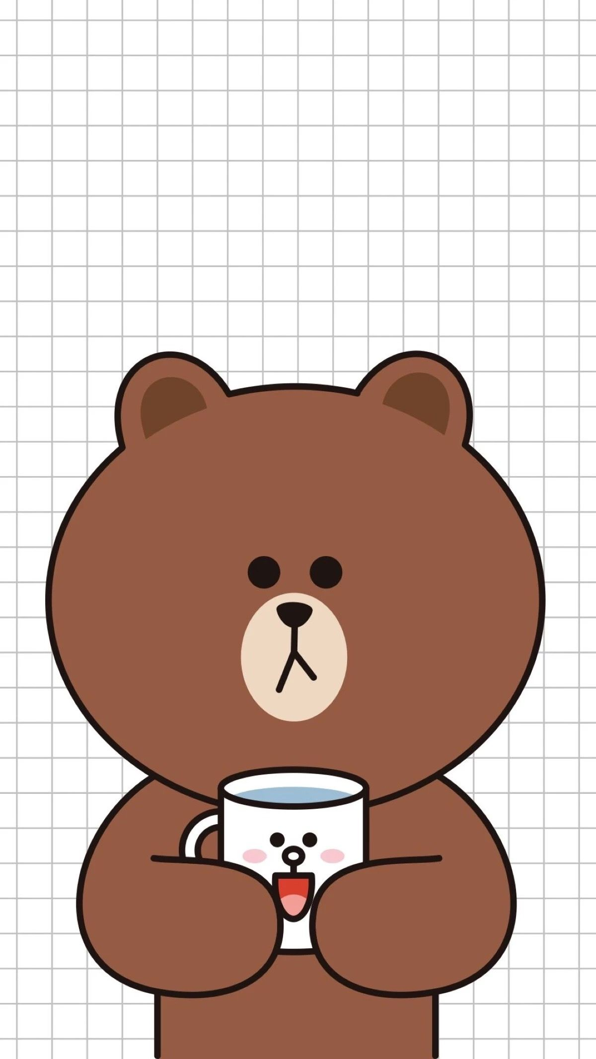 I My Coffee As Much I Cony Beruang Coklat Wallpaper Lucu Kartun