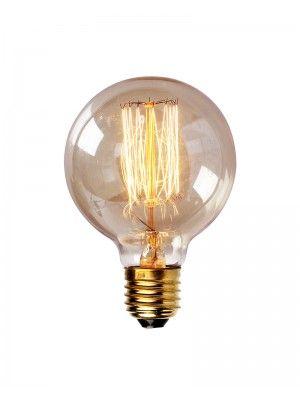 Edison Tungsten Globe Filament Vintage Light Bulb Vintage Light Bulbs Light Bulb Decorative Light Bulbs