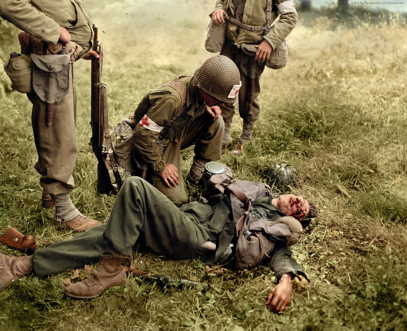 Image result for wwii us medic in combat color