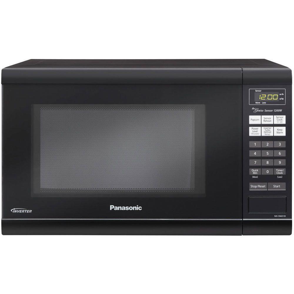 Panasonic Family Size 1 2 Cu Ft 1200 Watt Countertop Microwave In Black Nn Sn651 Countertop Microwave Oven Countertop Microwave Panasonic Microwave