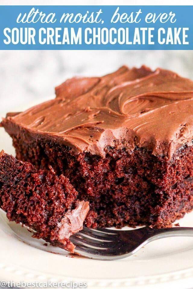 Hot Homemade Chocolate Clean Eating Snacks Recipe In 2020 Sour Cream Chocolate Cake Sour Cream Recipes Chocolate Cake Recipe Moist