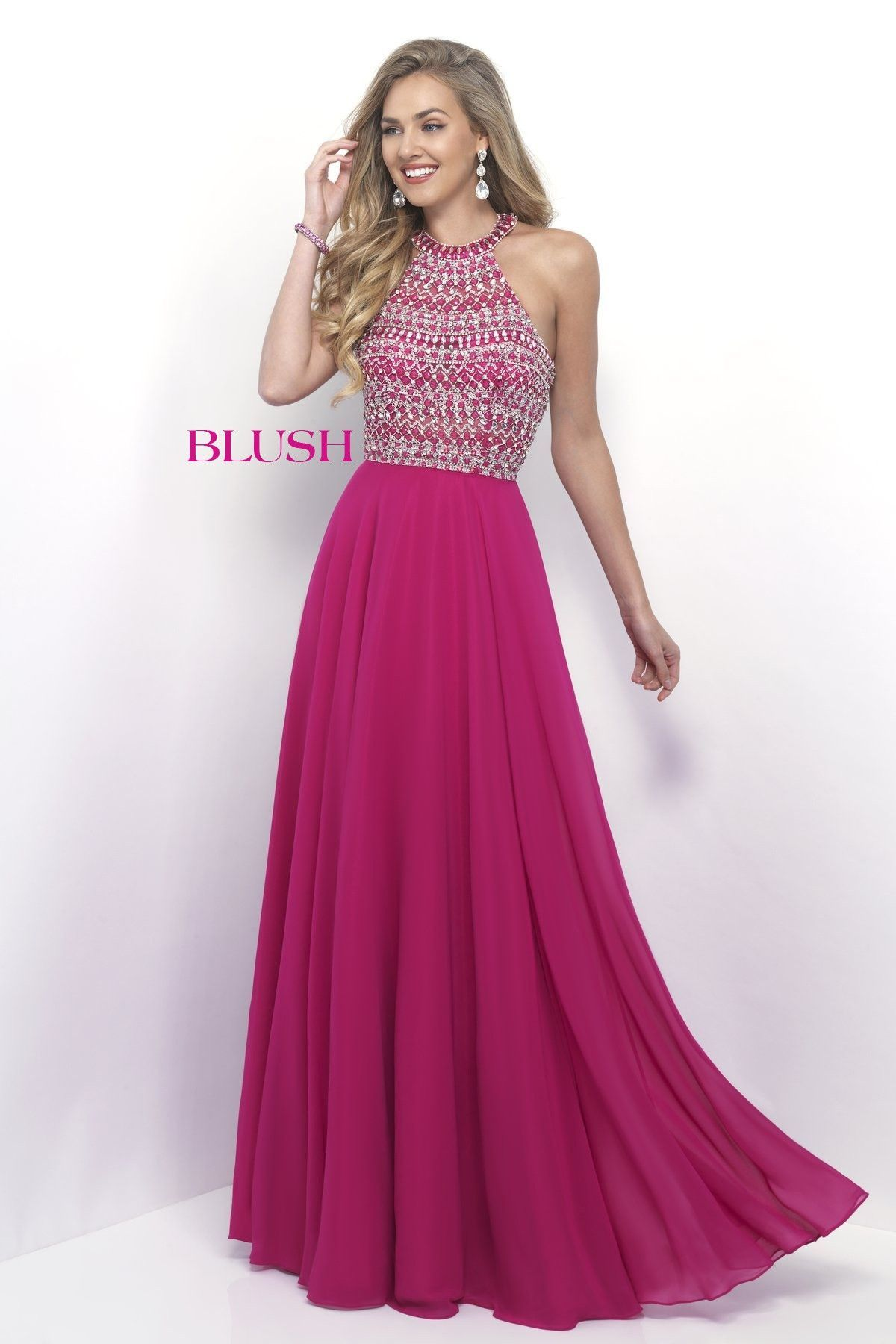 Blush Prom 11251 Lipstick Halter Prom Dress | prom | Pinterest ...