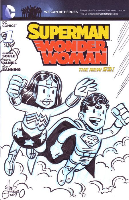 Superman / Wonder Woman #1 Sketch Cover by Chris Giarrusso