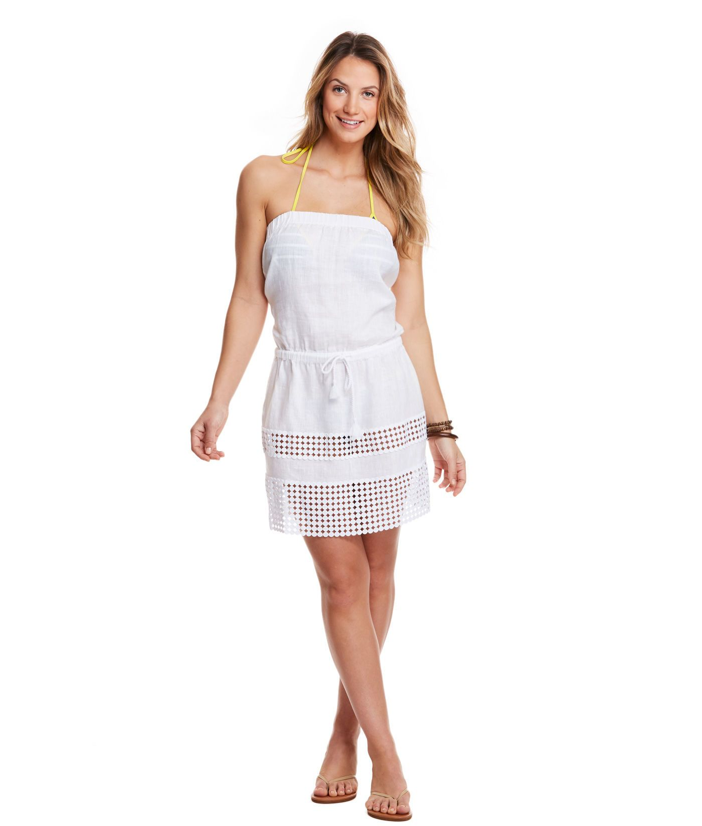 Shop Cotton Crochet Strapless Cover-Up at vineyard vines