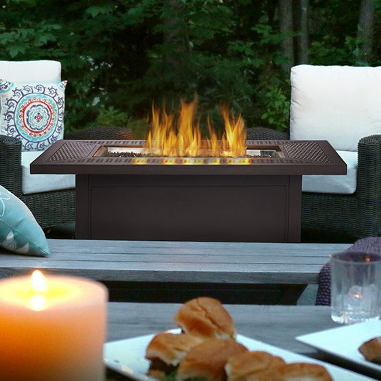 Napoleon Madrid Patioflame Propane Gas Fire Table With Glass Embers By  Napoleon   Rectangle   Patioflame Madrid Fire Table With Glass Embers By  Napoleon ...