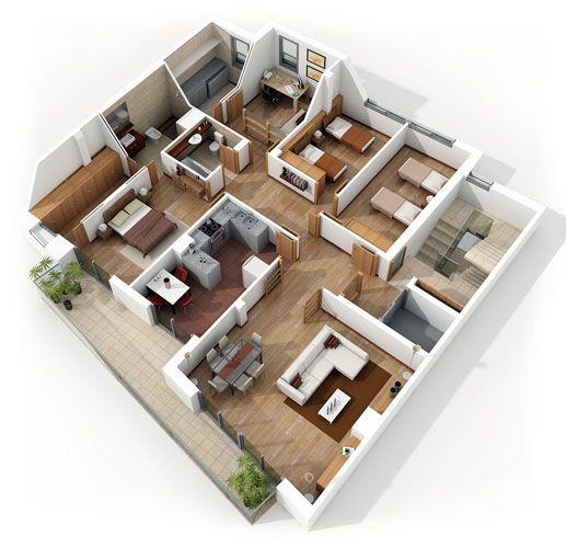 3D Home Floor Plans #homeplan #floorplan