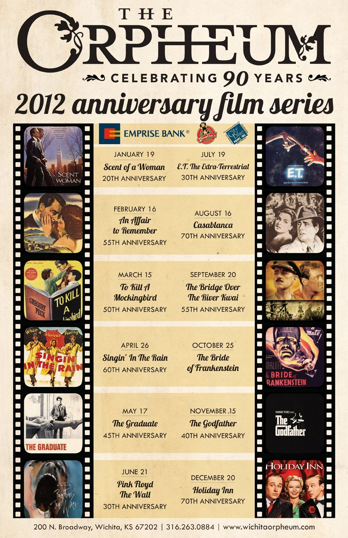 2012 anniversary film series the orpheum theatre wichita