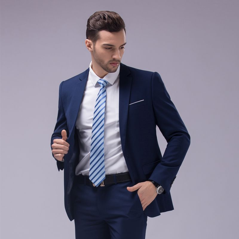 masculino dress slim fit wedding suits blazer latest coat pant ...