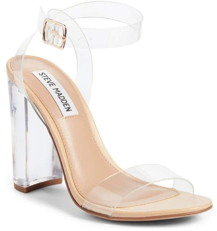 5a86b24e051 Steve Madden Camille Clear Sandal in 2019   Products   Shoes ...