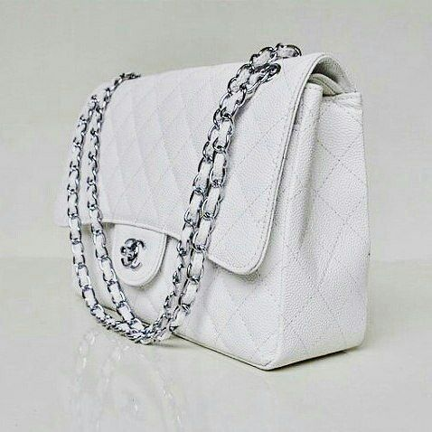 Chanel Sac Rabat Quilted White Handbag In White White Handbag White Quilt Chanel Handbags