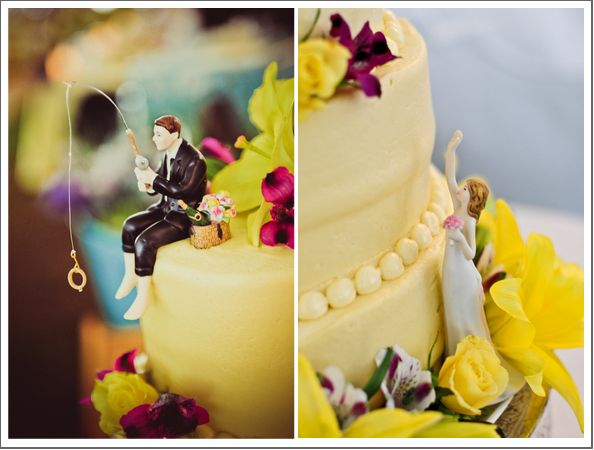 Fishing wedding cake-- cute!