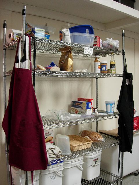 Plenty of guest dry food storage in the commercial kitchen @ http ...