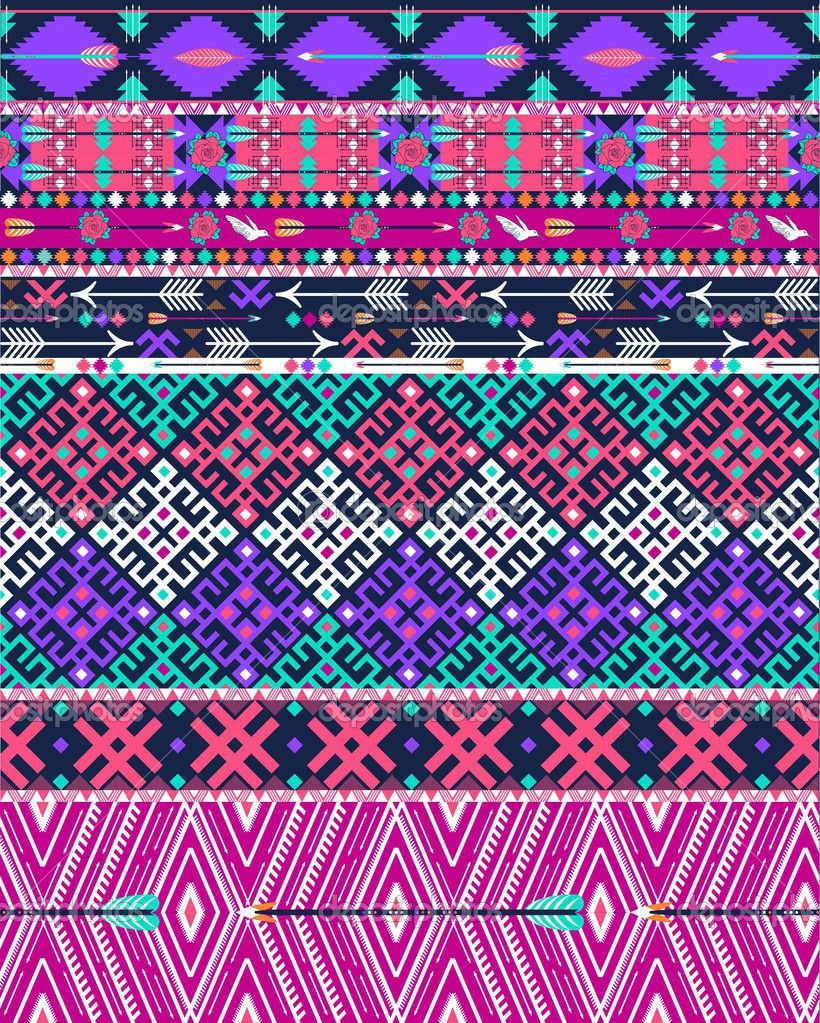 Background geometric mexican patterns seamless vector zigzag maya - Colorful Tribal Patterns Wallpapertribal Seamless Aztec Pattern With Birds And Flowers Stock Images