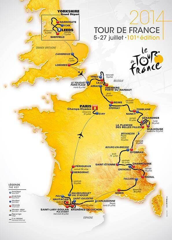 The Tours 2014 Route Tour De France Tours France